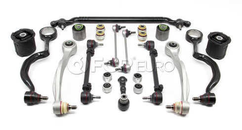 BMW 18-Piece Control Arm Kit (E34) - Lemforder KIT-E3418PIECEL