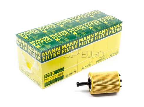 Audi VW Oil Filter Case (Pack of 10) - Mann HU719/7