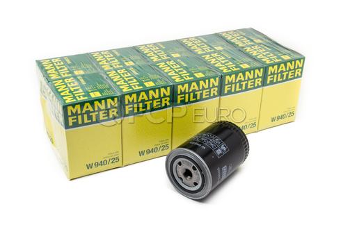 Audi VW Volvo Engine Oil Filter Case (10 Filters)  - Mann W940/25-10