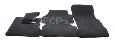 BMW Carpeted Floor Mats Set of 4 Anthracite (E60) - Genuine BMW 82110302986