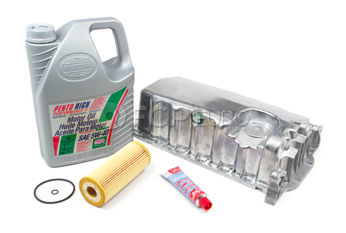 VW Oil Pan Kit with 5W40 Oil (TDI) - Mann / Pentosin 517449