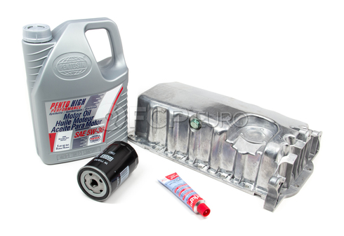 VW Oil Pan Kit with 5W30 Oil - Mann / Pentosin 517448