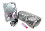 Audi VW Oil Pan Kit with 5W30 Oil - Meyle / Pentosin 500159