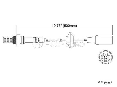 Porsche Oxygen Sensor (911 924 928) - Walker 250-21023