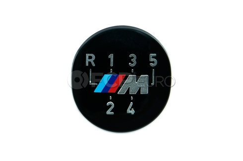 BMW Manual Trans Shift Knob M Emblem - Genuine BMW 25111221613