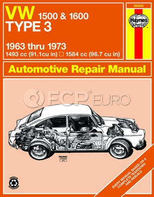 VW Haynes Repair Manual (1500 1600) - Haynes HAY-96040