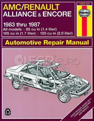 AMC Renault Haynes Repair Manual (Alliance Encore) - Haynes HAY-14025
