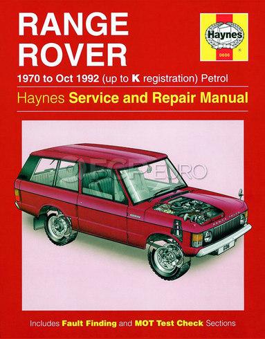 Range Rover Repair Manual - Haynes HAY-0606