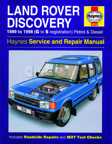 Land Rover Repair Manual (Discovery) - Haynes HAY-3016