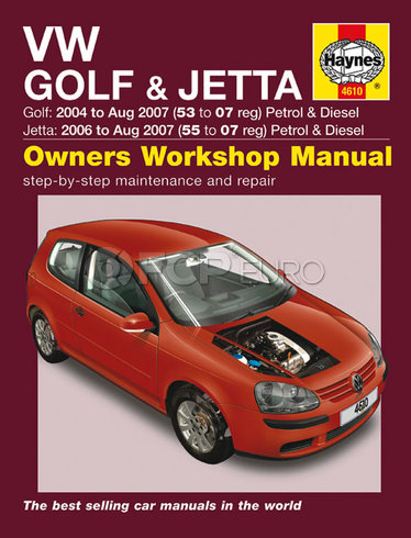 VW Repair Manual (Golf Jetta) - Haynes HAY-4610