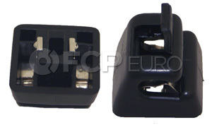 Mercedes Sun Visor Bracket (Black) - Genuine Mercedes 12681000129051