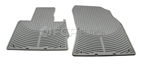 BMW Rubber Floor Mat Set Front Grey (X5) - Genuine BMW 82550151487