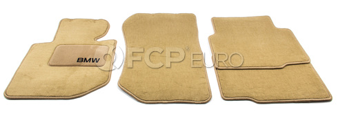 BMW Carpeted Floor Mats set of 4 Sand (E36) - Genuine BMW 82111468284