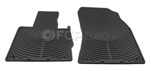 BMW Rubber Floor Mat Set Front Black (X5) - Genuine BMW 82550151189