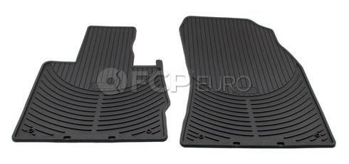 BMW Rubber Floor Mat Set Front Black (X5) - Genuine BMW 82550151189