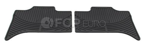 BMW Rubber Floor Mat Set Rear Black (X5) - Genuine BMW 82550151190