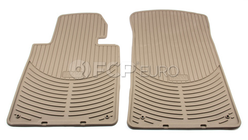 BMW Rubber Floor Mats Beige Front (E46) - Genuine BMW 82550151504